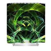 Lime Jewel Shower Curtain