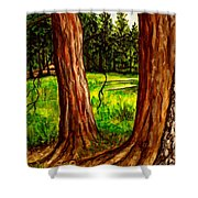 Lime Meadow Shower Curtain