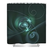 Lime Petals Shower Curtain