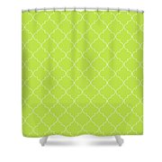 Lime Punch Quatrefoil Shower Curtain
