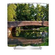 Lime Valley Bridge Shower Curtain