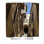 Limestone And Sharp Shadows - Old Town Noto Sicily Italy Shower Curtain