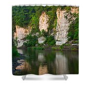 Limestone Bluffs Along Upper Iowa Shower Curtain
