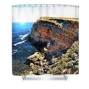 Limestone Cliff Shower Curtain