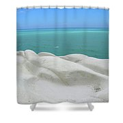 Limestone Cliffs And Sea Shower Curtain