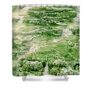 Limestone Detail Minerva Springs Yellowstone National Park Shower Curtain