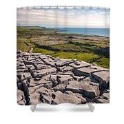 Limestone Landscape Of The Burren Ireland Shower Curtain