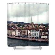 Limmatquai In Zurich Switzerland Shower Curtain