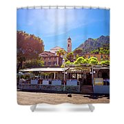 Limone Sul Garda Square And Church View Shower Curtain