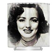 Lina Romay Shower Curtain