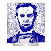 Lincoln Abstract Blue Shower Curtain
