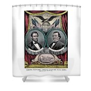 Lincoln And Johnson Election Banner 1864 Shower Curtain