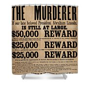 Lincoln Assassination Reward Poster Shower Curtain