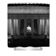 Lincoln At Night Bw Shower Curtain