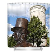 Lincoln At The Tower Shower Curtain