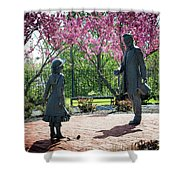 Lincoln-bedell Statue Westfield  Shower Curtain