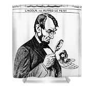 Lincoln Cartoon, 1873 Shower Curtain