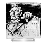Lincoln Carved Shower Curtain