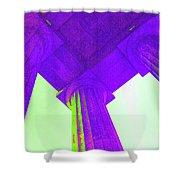 Lincoln Column Purple Shower Curtain