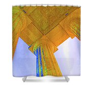 Lincoln Column Yellow Shower Curtain