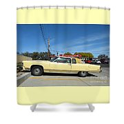 Lincoln Continental At Brint's Diner Shower Curtain