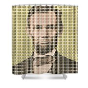 Lincoln - Gold Shower Curtain