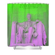 Lincoln In Green Shower Curtain