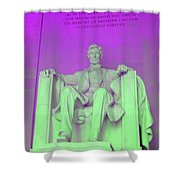 Lincoln In Purple Shower Curtain