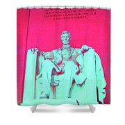 Lincoln In Red Shower Curtain