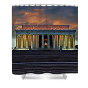 Lincoln Memorial At Dusk Shower Curtain