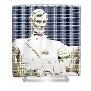 Lincoln Memorial - Dark Blue Shower Curtain