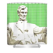Lincoln Memorial - Green Shower Curtain