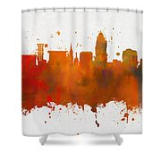 Lincoln Nebraska Colorful Skyline Shower Curtain