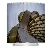 Abstract Of Peoples Gas Pavillon Shower Curtain
