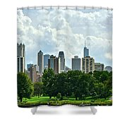 Lincoln Park Pano  Shower Curtain