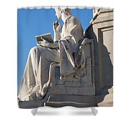 lincoln statue Gettysburg PA Shower Curtain