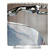 Lincoln V12 Hood Ornament Shower Curtain