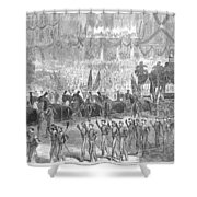Lincolns Funeral, 1865 Shower Curtain