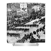 Lincolns Funeral Procession, 1865 Shower Curtain by Photo Researchers, Inc.