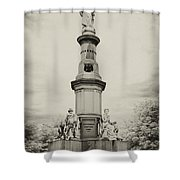 Lincolns Gettysburg Address Site - Toned Shower Curtain