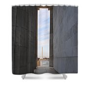 Lincoln's View Shower Curtain