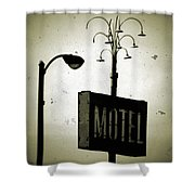 Lincolnwood Motel District Shower Curtain