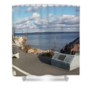 Lincolville Bench Shower Curtain
