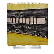 Lincons Funeral Car Shower Curtain