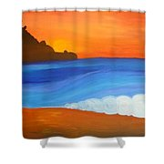 Linda Mar Beach Shower Curtain