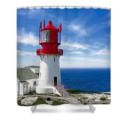 Lindesnes Lighthouse - Norway's Oldest Shower Curtain