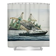 Lindsey Foss Barge Assist Shower Curtain