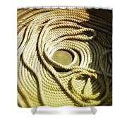 Line Coil Shower Curtain