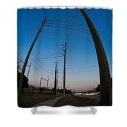 Line Drive Shower Curtain