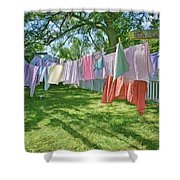 Line Dry - Laundry Shower Curtain